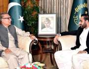 اسلام آباد: صدر مملکت عارف علوی سے گورنر بلوچستان قدوس بزنجو ملاقات ..