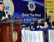 اسلام آباد: نیشنل کوآرڈینیٹر احسن غنی ایک سیمینار کے موقع پر خطاب کررہے ..