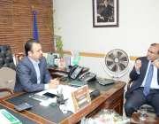 فیصل آباد: چیمبر آف کامرس اینڈ انڈسٹری میں کمشنر فیصل آباد آصف اقبال ..
