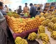 راولپنڈی: شہری سستا رمضان بازار سے تازہ پھل خرید رہے ہیں۔