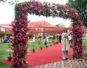 کراچی: عیدالاضحی کی آمد کے موقع پر معمر محنت باغ جناح کے داخلی راستے ..