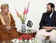 اسلام آباد: وفاقی وزیر تعلیم انجینئر بلیغ الرحمن سے اومان کے سفیر الشیخ ..