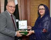 راولپنڈی: وفاقی وزیر برائے دفاعی پیداوار زبیدہ جلال، ازبکستان کے سفیر ..