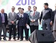 لاہور: لبارڈ کے موقع پر لاہور چیمبر کے سینئر نائب صدر خواجہ شہزاد ناصر ..
