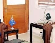 اسلام آباد: نگرانی وزیر خزانہ ڈاکٹر شمشاد اختر سے آسٹریلین ہائی کمشنر ..