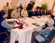 اسلام آباد: وزیراعظم شاہد خاقان عباسی قومی سلامتی کمیٹی کے اجلاس کی ..