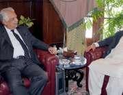 پشاور: گورنر خیبر پختونخوا انجینئر اقبال ظفر جھگڑا سے رکن صوبائی اسمبلی ..