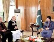 اسلام آباد: قائمقام صدر محمد صادق سنجرانی سے سابق وزیر اعظم آزاد کشمیر ..
