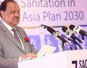 اسلام آباد: صدر مملکت ممنون حسین سینیٹیشن بارے منعقدہ ساتویں کانفرنس ..