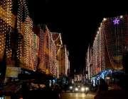 راولپنڈی: بارہ ربیع الاول کی آمد کے سلسلہ میں عمارتوں کو خوبصورت لائٹوں ..
