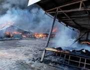 اسلام آباد: وفاقی دارالحکومت میں ہفتہ وار بازار میں لگی آگ نے تمام سٹالز ..
