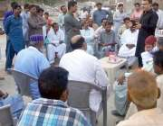 حیدر آباد: گرینڈ ڈیموکریٹک الائنس کے جنرل سیکرٹری ایاز لطیف پلیجو شہبا ..