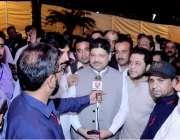 لاہور: پاکستان تحریک انصاف کے سینئر رہنما شعیب صدیقی لاہور چیمبرآف ..