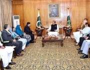 اسلام آباد: صدر مملکت ممنون حسین سے انسانی حقوق کے چیئرمین جسٹس (ر) علی ..