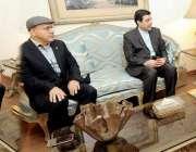 لاہور: سپیکر پنجاب اسمبلی چوہدری پرویز الٰہی سے ایرانی قونصل جنرل علی ..