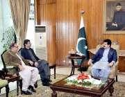 اسلام آباد: قائمقام صدر محمد صادق سنجرانی سے سینیٹر محمد عثمان خان ..