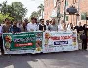 سیالکوٹ: خوراک کے عالمی دن کے موقع پر آگاہی واک کی جا رہی ہے۔