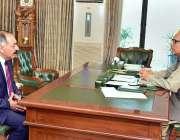 اسلام آباد: صدر مملکت ڈاکٹر عارف علوی سے گورنر بلوچستان جسٹس (ر) امان ..
