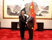 بیجنگ: وزیر خارجہ شاہ محمود قریشی چینی ہم منصب وانگ ژی سے ملاقا ت کے ..