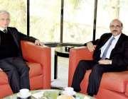 اسلام آباد: صدر آزاد جموں و کشمیر سردار مسعود خان سے پاکستان میں فرانس ..