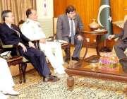 اسلام آباد: صدر مملکت ممنون حسین سے برازیل کے چیف آف دی ایڈمرل ادمیر ..