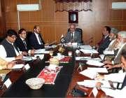 اسلام آباد: وزیراعظم کے مشیر عرفان صدیقی ایک اجلاس کی صدارت کر رہے ہیں۔