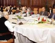 لاہور: وزیر اعلیٰ پنجاب سردار عثمان بزدار صوبائی کابینہ کے اجلاس کی ..
