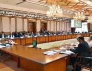 اسلام آباد: وزیر اعظم شاہد خاقان عباسی اعلیٰ سطحی اجلاس کی صدارت کر ..