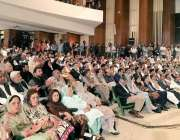 """اسلام آباد: نیشنل لائبریری آڈیٹوریم میں منعقدہ """"ووٹ کو عزت دو"""" قومی .."""