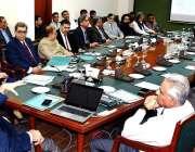 اسلام آباد: سیکرٹری فنانس عارف احمدخان اعلیٰ سطحی اجلاس کی صدارت کر ..