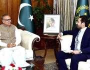 اسلام آباد: صدر مملکت ڈاکٹر عارف علوی سے چیئرمین سٹاک ایکسچینج سلیمان ..