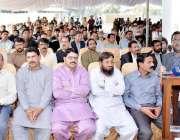 لاہور: صوبائی وزیر محنت انصر مجید پیسی سٹاف فیڈریشن پنجاب کے نو منتخب ..