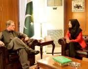 اسلام آباد: وفاقی وزیر خارجہ مخدوم شاہ محمود قریشی سے ڈاکٹر فوزیہ صدیقی ..
