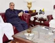 اسلام آباد: صدر آزاد جموں و کشمیر سردار مسعود خان سے وزیرخزانہ و صحت ..