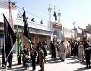 کوئٹہ:9ویں محرم الحرام کے موقع پر جلوس ناصر العزاء امام بارگاہ سے برآمد ..