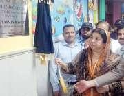 لاہور: صوبائی وزیر صحت ڈاکٹر یاسمین راشد جنرل ہسپتال میں غذائیت کا ..