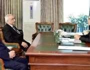 اسلام آباد: صدر مملکت ڈاکٹر عارف علوی سے جسٹس زاہد حسین اور سیکرٹری ..