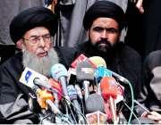 راولپنڈی: تحریک نفاذ فقہ جعفریہ کے سربراہ آغا سید حامد علی موسوی عاشورہ ..