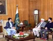 اسلام آباد: قائمقام صدر محمد صادق سنجرانی سے سینیٹر شمیم آفریدی ملاقات ..