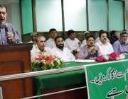 """لاہور: آل پاکستان واپڈا ہائیڈرو الیکٹرک ورکرز یونین کے زیر اہتمام """"سیفٹی .."""