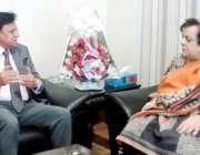 لاہور: صوبائی وزیر انسانی حقوق و اقلیتی امور اعجاز عالم سے آگسٹین کی ..