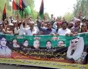 حیدر آباد: پیپلز پارٹی کے ناراض ارکان اپنے مطالبات کے حق میں احتجاج ..