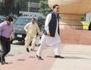 لاہور: صوبائی وزیر ہاؤسنگ میاں محمود الرشید پنجاب اسمبلی کے اجلاس میں ..