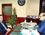 اسلام آباد: گورنر گلگت بلتستان راجہ جلال حسین سے وفاقی وزیر برائے نیشنل ..