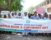 حیدر آباد: پاکستان لائبریری ایسوسی ایشن کے زیر اہتمام ورلڈ بک اور کاپی ..