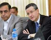 پشاور: برازیلین سفیر ایس سی سی آئی کے دورہ کے موقع پر خطاب کر رہے ہیں۔