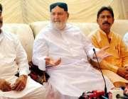 حیدر آباد: نگران وزیر خارجہ عبداللہ حسین ہارون ہیر آباد میں پریس کانفرنس ..