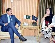 پشاور: اسپیکر خیبر پختونخوا اسمبلی مشتاق غنی سے رکن صوبائی اسمبلی مومنہ ..