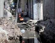 راولپنڈی: مسلم ٹاؤن روڈ پر نالوں کا تعمیراتی کام سست روی کا شکارہے ، ..