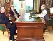 اسلام آباد: صدر مملکت ڈاکٹر عارف علوی سے وزیر صحت عامر محمود کیانی اور ..